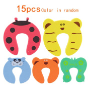 Children Safe Keeper No Finger Pinch Foam Door Stopper Cute Cartoon Animal Cushion ,Great gift for Baby Child Kids Cushiony Finger Hand Safety