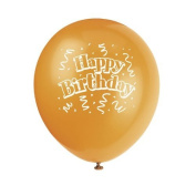 Brilliant Birthday 30cm Balloons [8] by Unique Party Supplies