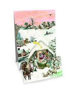 Mini Advent Calendar Christmas Card - Pop Up Christmas Panorama - Nativity by Coppenrath Verlag
