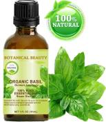BASIL ESSENTIAL OIL ORGANIC. 100% Pure Therapeutic Grade, Premium Quality, Undiluted. 1 Fl.oz.- 30 ml.