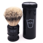 Parker Safety Razor 100% Silvertip Travel Shave Brush - Black Handle