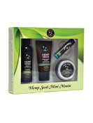 Earthly Body Guavalava Mini Mania Travel Set - Shower Gel, Body Lotion, Massage Candle and Lip Balm