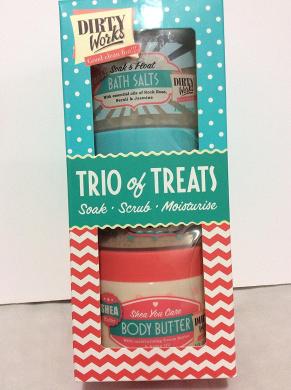 DIrty Works Trio of Treats Soak-Scrub-Moisturise