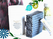 "Mountain Fresh Soaps ""Extra Mild"" GIFT SET ~ Artisan, Organic, & All-Natural Soap, Lotion, Lip Balm, & Bath Salt"