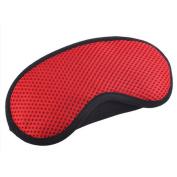 Breathable Adjustable Eye Mask Eye-shade Relaxing Sleeping Eye Cover-Red