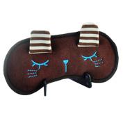 Cartoon Sleeping Eye Mask Sleep Mask Eye-shade Aid-sleeping Cute Rabbit Brown