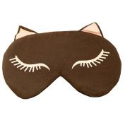 Cartoon Sleeping Eye Mask Sleep Mask Eye-shade Aid-sleeping Cute Cat Brown