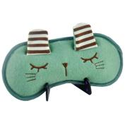 Cartoon Sleeping Eye Mask Sleep Mask Eye-shade Aid-sleeping Cute Rabbit Green