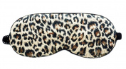 Fashion 100% Silk Sleep Eye Mask Eyeshade Leopard Veins Eye Mask