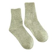 Sunfei Womens Pure Colour Cashmere Wool Thick Warm Socks Winter Fashion Striped Socks