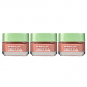 L'Oreal Paris Skin Care Pure Clay Mask Exfoliate and Refine Pores, 3 Count