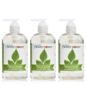 Natural Flower Power - Natural Liquid Hand Soap, Free & Clear, Unscented, Hypoallergenic, pH Balanced, Soft and Moisturising, Sulphate Free - 350ml
