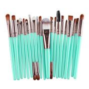 Mosunx(TM) 20 pcs Make-up Toiletry Kit Wool Make Up Brush Set Makeup Brush Set tools