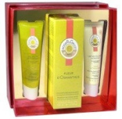 Roger & Gallet Fleur d'Osmanthus Set, Fragrant Water Fleur d'Osmanthus 100ml, Uplifting Shower Gel 50ml and Revitalising and Hydrating Body Lotion 50ml