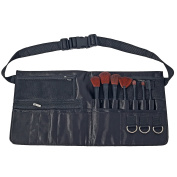 Pro Makeup Artist Cosmetics Tool Apron, Brush Belt Accessory Organiser, Black