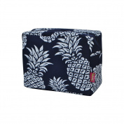 Southern Pineapple Print NGIL Large Cosmetic Travel Pouch