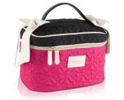 Betsey Johnson Bow Train Cosmetic Case - Fushia/Black
