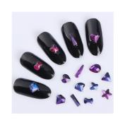 Born Pretty 20Pcs/set 3D Nail Decoration Butterfly Star Heart Bownot Rhinestone Manicure Nail Art Decoration 10 Patterns