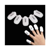 Born Pretty 5Pcs/set UV Gel Polish Remover Wraps Reusable Plastic Soak Off Cap Clip Nail Art Manicure Tools
