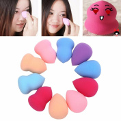 Usstore 10PC Powder Puff Beauty Flawless Makeup Blender Foundation Puff Multi Shape Sponges