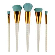 5Pcs Colourful Cosmetic Eyebrow Eyeshadow Brush, Makeup Brush Sets, Kits Tools