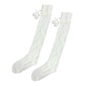 OVERMAL Women Cable Knitted Long Boot Socks Over Knee Thigh High Stocking