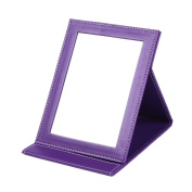 Rnow Tabletop Makeup Mirror Portable Folding Vanity Mirrors with Standing Large, Purple