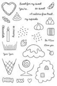Woodware Clear Stamp Set - Sweet Tooth by Woodware Craft Collection Ltd