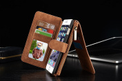 For iPhone 6/6S Plus Case,Charminer Multi Function Card Wallet Leather wallets phone case 5.5 Premium Flip Wallet Case Cover With Detachable Magnetic Hard Case
