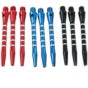 3 Sets/9pcs of Aluminium Medium Darts Shafts Harrows Dart Stems Throwing Fitting