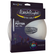 Nite Ize Flashflight LED Disc Golf Discs, Glow in the Dark for Night Play, Driver