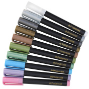 Polaroid Colourful Metallic Markers for Zink 2x3 Photo Paper Projects (Snap, Zip, Z2300) - Pack of 10