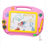 Miss.AJ Colourful Magnetic Writing Drawing Board Sketching Pad Baby Kids Skill Development Erasable Doodle Sketch Learning Toy With 2 Stamps & 1 Pen Middle Size 33cm X 23cm Random Colour