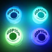 4 Colour Set of AQUA, BLUE, GREEN & LILAC Glow in the Dark Pigment Powder 10g each