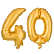40 Number Balloons for Birthday or Anniversary Party Decorations and Supplies