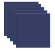 Dark Blue - Navy Blue (Glossy) 5-pack of Adhesive Vinyl Sheets - 30cm x 30cm Outdoor/permanent - Vinylxsticker