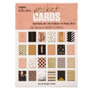 Gold Trend Pocket Cards - 3x4 - Set of 36 Double Sided