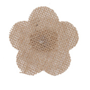 Generic 6pcs Vintage Rustic Hessian Burlap Lace Floral Wedding Party DIY Findings Crafts