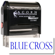 MaxStamp - Large Self-Inking Blue Cross Stamp