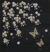 Furoshiki Wrapping Cloth Butterflies and Cherry Blossoms Motif Japanese Fabric 50cm