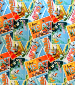 1 Yard - Disney Frozen Olaf Postcards Toss Twill - Disney Officially Licenced (Great for Quilting, Sewing, Craft Projects, Quilt, Throw Pillows & Mo) 1 Yard X 150cm