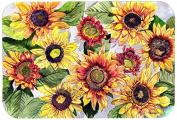 """Caroline's Treasures 8766JCMT """"Sunflowers"""" Kitchen or Bath Mat, 60cm by 90cm , Multicolor"""