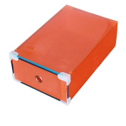Topbeu Colourful Plastic Drawer-Style Shoe Storage Box For Women Shoes Organiser