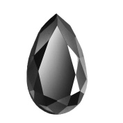 Skyjewels 4.70 Cts Pear Checker Cut Solitaire Black Diamond Earth mined AAA