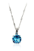 Ocean Fashion clear blue crystal necklace