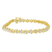 Yellow Plated Sterling Silver X Link Diamond Bracelet