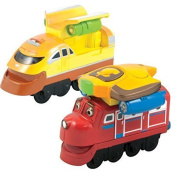Chuggington StackTrack Duo Value Pack Die Cast Toy Trains for Toddlers Includes Jet Pack Wilson and Jet Pack Action Chugger by Power Brand