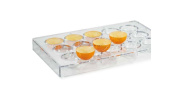 Martellato Clear Polycarbonate Chocolate Mould, Bowl 40mm Diameter x 18.5mm High, 15 Cavities