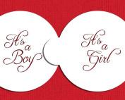 Script It's a Boy/Girl Cookie Top 7.6cm C981 by Designer Stencils