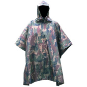 """XTACER Multi-Use Rain Poncho 83""""x55""""/XL 3-IN-1 Raincoat (Ground Sheet, Shelters, Poncho) Ultralight Portable 210T Double-layer PU Waterproof Raincoat Ripstop Hooded Poncho"""